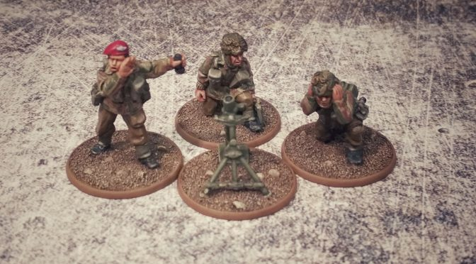 British Airborne 3″ Medium Mortar Team